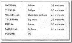 The Veterano Trainig Schedule