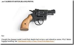 22 caliber starter blank pistol