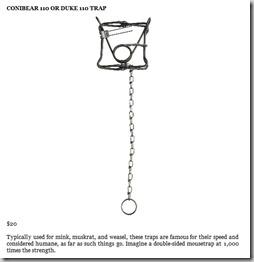Cornibear 110 or Duke 110 Trap