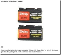 Daisy 1 and 4 Slingshot Ammo