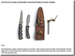 Knives of Alaska Suregrip Jaeger Muskrat Kinfe Combo